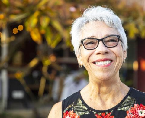 Senior Mexican Woman Portrait Smiling